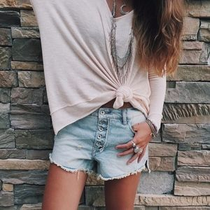 Free People // Runaway Slouch Shorts